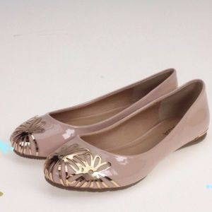 Shoes - Pink and Gold flats