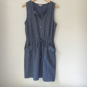 Ann Taylor Loft Blue Pocket Dress Size M