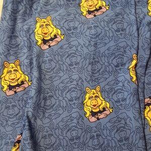 NWT Lularoe Leggings Muppets Miss Piggy TC