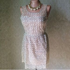 Dresses & Skirts - Ivory/taupe overlay dress