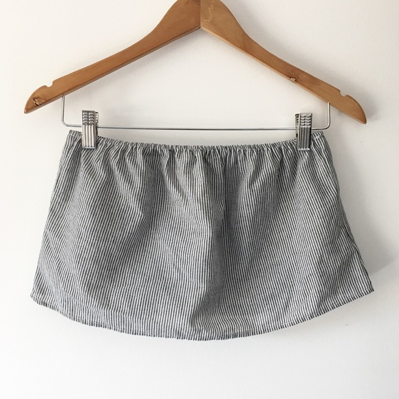 79340d5bc4a BNWT gray and white striped Cassidy tube top