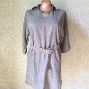 Dresses & Skirts - ➕Grey moleskin plus dress
