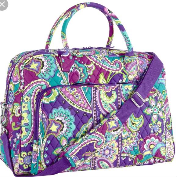 82215bece749 Vera Bradley Grand Traveler Carry On Bag Heather