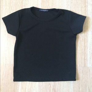 Brandy Melville Black Cushion Shirt