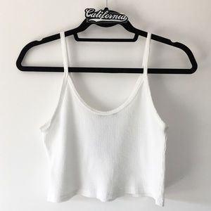 BNWT white ultra cropped thermal tank