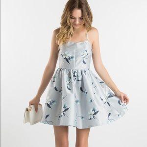 Dresses & Skirts - Grey Floral Mini Dress