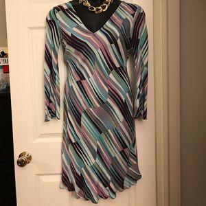 Diane Von Furstenburg vintage silk dress sz 10