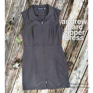 Andrew Marc New York Front Zip Dress