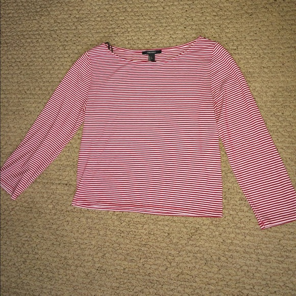 Forever 21 Tops - Striped 3/4 sleeve crop top.