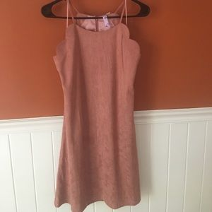 Beautiful faux suede dress