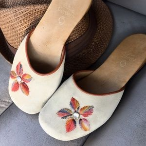 Calleen Cordero Suede embroidered mules