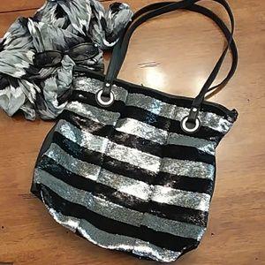 Black & Silver Sequin Candies Purse