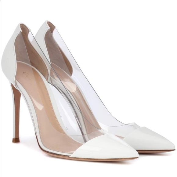 b9f3d59d83909 Gianvito Rossi Shoes - Gianvito Rossi White leather 'Plexi' pumps.