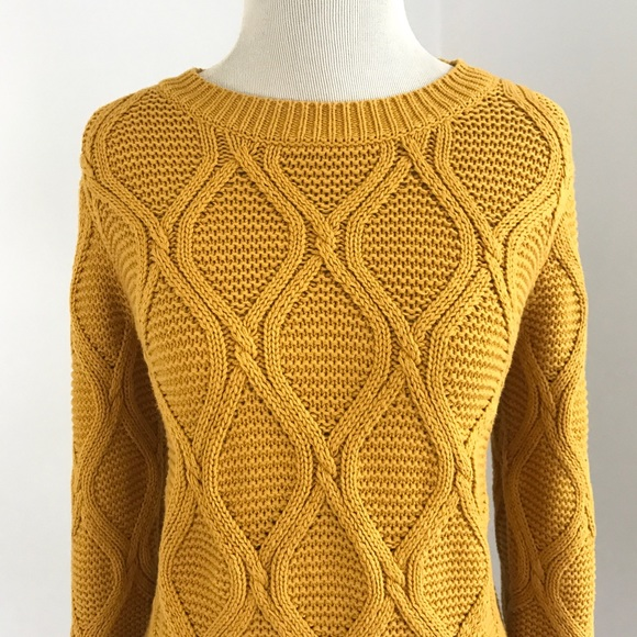 Old Navy - Mustard Yellow Pullover 3/4 Sleeve Sweater NWOT from ...