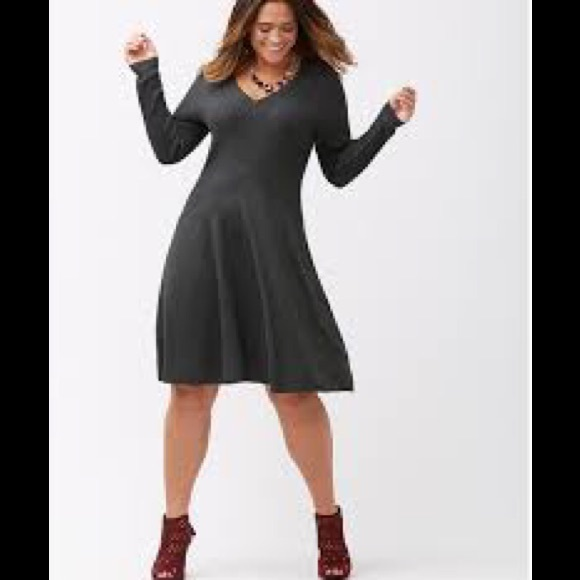127942f7c2e Lane Bryant Dresses   Skirts - LANE BRYANT Plus Size Fit   Flare Sweater  Dress