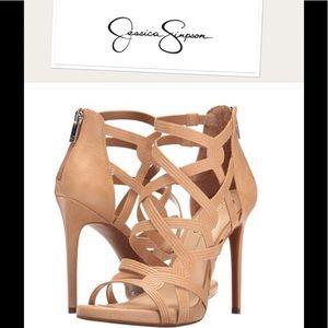 "NEW Jessica Simpson ""Raina's"" leather sandals 0726"