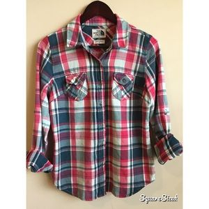 The North Face flannel plaid shirt