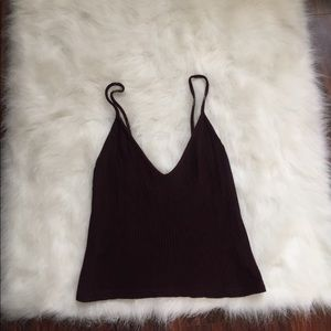 💮 Brandy Melville Ribbed red wine tank top shirt