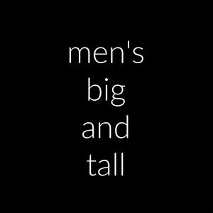 Men's Big and Tall Sizes 2X / 3X