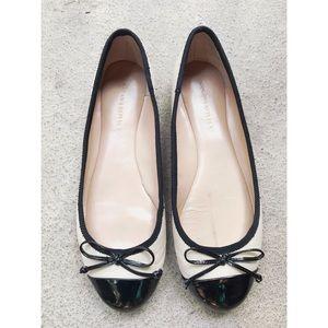 Banana Republic Leather Tuxedo Ballet Flats 7