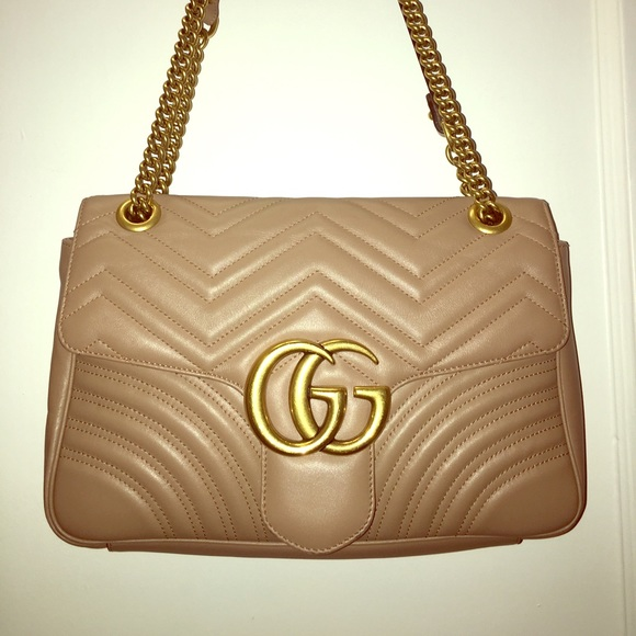 ed91f5ff4164 Gucci Handbags - GUCCI GG Marmont matelassé shoulder bag - beige