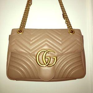 6ae80e2dac3436 Gucci Bags | Gg Marmont Matelass Shoulder Bag Beige | Poshmark