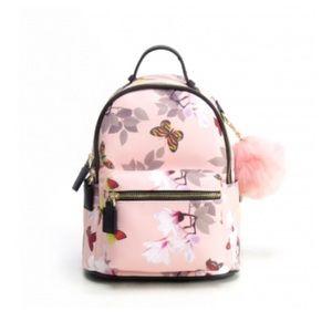 """Handbags - 🌺NEW🌺 """"Jasmine"""" Vegan Leather Mini Pom Backpack"""