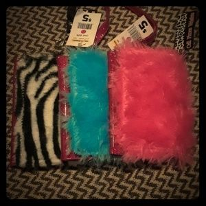 Handbags - *final price* Fuzzy wallet lot of three