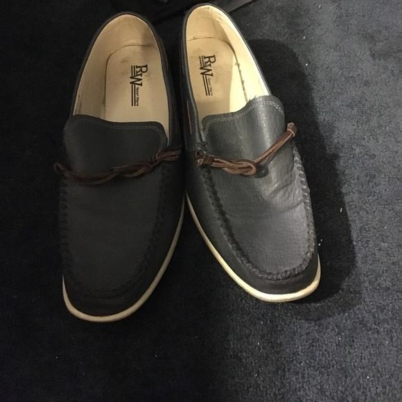 Robert Wayne Shoes - Men's Navy Blue Boat Shoe