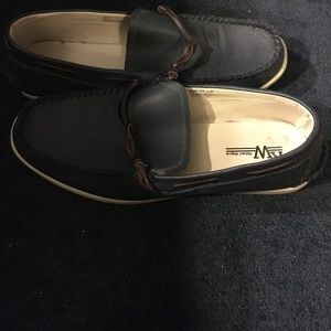 Robert Wayne Shoes - Men's Navy Blue Boat Shoe