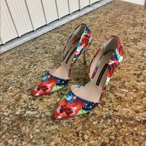 FC D'ORSAY LEATHER HEELS LIKE NEW