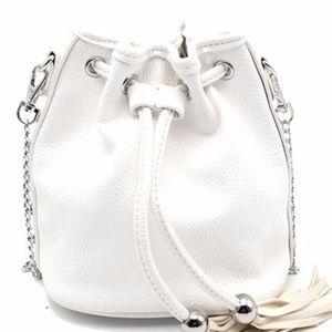 Handbags - White Bucket Bag