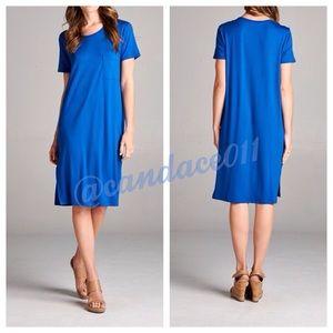 Royal Blue T-Shirt Midi Dress (M)