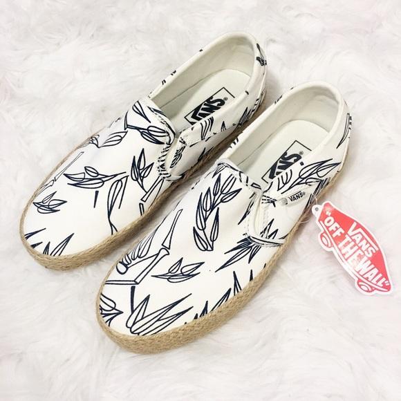 41ff38587084 New Vans Bamboo Espadrille Slip On Sneakers