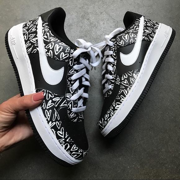 Nike Shoes Nwb Air Force 1 Premium Leather Print Poshmark