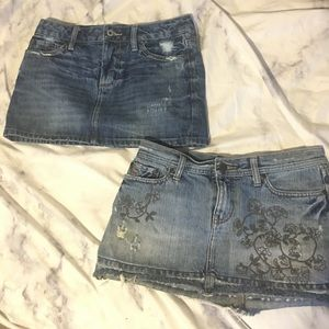 2 jean skirts size 2