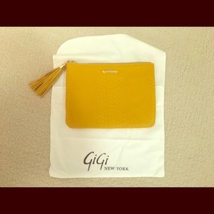 GiGi New York All-in-One Embossed Leather Clutch
