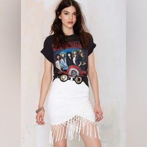 Fringe Wrap Style Skirt