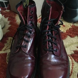 Vintage Dr. Martens Maroon patent ankle boot