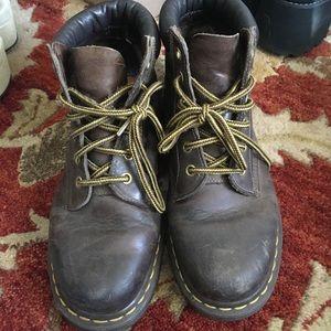 Vintage Dr. Martens brown leather bootie