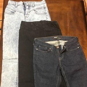 3 pairs BDG jeans 24 & 25