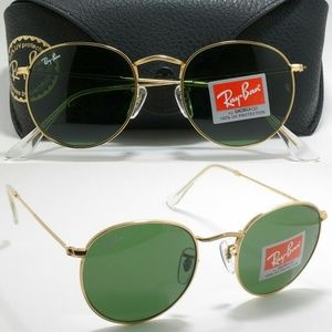 New vintage round classic gold G-15 RB3447 Ray Ban