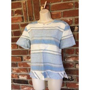 Lou & Grey Nautical Striped Oversized Blouse M