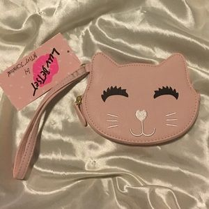 😻NWT Betsey Johnson Kitty Coin Purse Wristlet