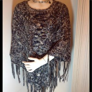 NEW WITHOUT TAG EMBELLISHED PONCHO
