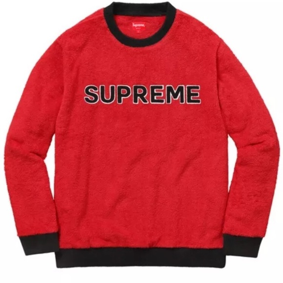 Supreme - Supreme terry crewneck red medium from Lulu's closet on ...