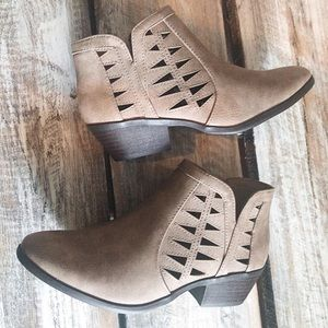 Shoes - Laser Cut-Out Booties