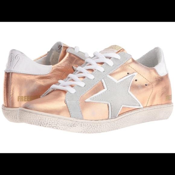 golden goose rose gold sneakers