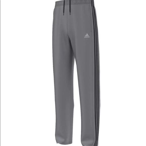 647e6c77ec38 Adidas Men s Essential Track Pant Grey Black XL