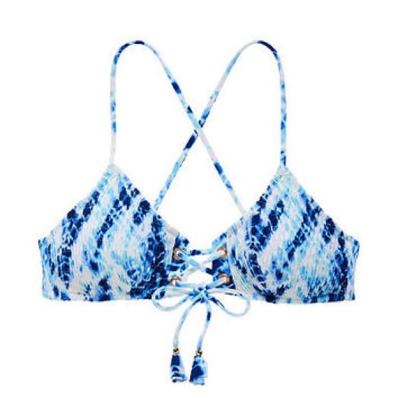 d60c8f99d9 Victoria s Secret Smocked Lace-Up Bralette Top. M 59789391d14d7bb81d01c1fb